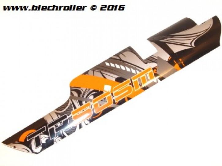 Aufkleber Gabelverkleidung Links - Schwarz/Orange
