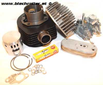 * DR 177 Stecktuning Satz mit Rennzylindersatz + Vergaser + Kleinteilen für alle Big Frame Vespa 125/150