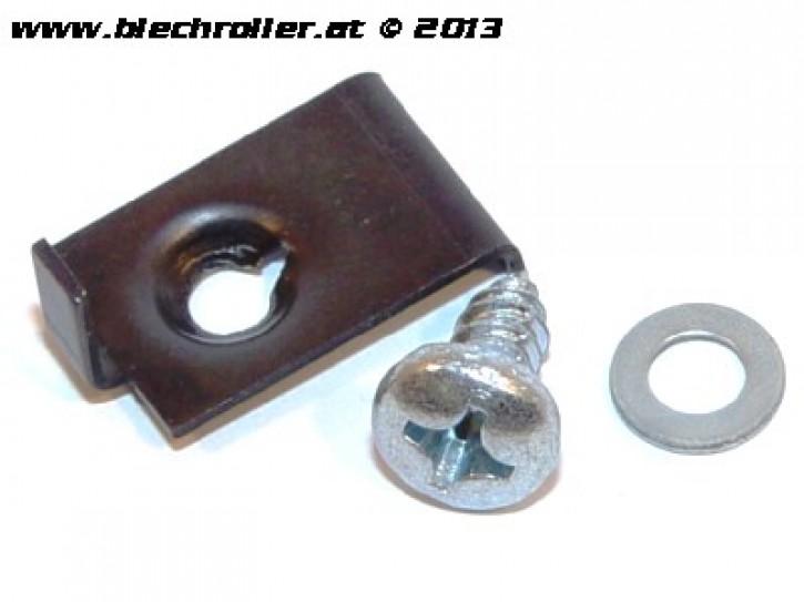 Sicherungsblech Satz Scheinwerfer für Vespa V50 Special/Elestart (Trapez)