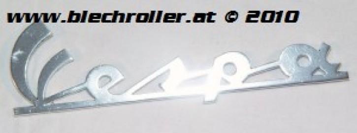 """Schriftzug """"Vespa"""" antik chrom, Beinschild, Vespa 200 Rally"""