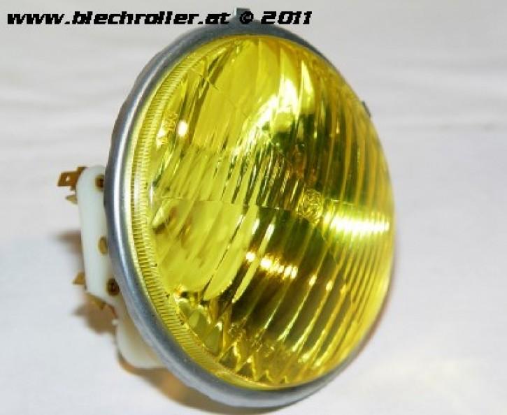 * Scheinwerfer BOSATTA Gelb für Vespa 50S/N/L/R/SR/90, rund