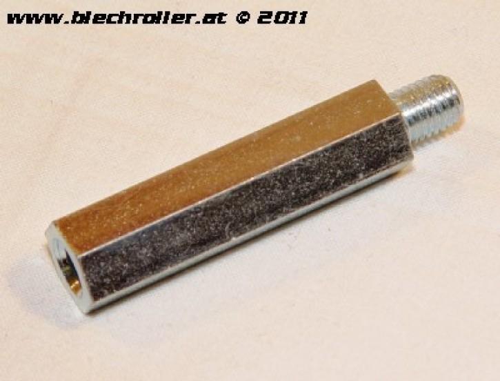 Distanzmutter M9x52,5mm, Sechskant, Stoßdämpfer hinten, für Vespa PE/PX