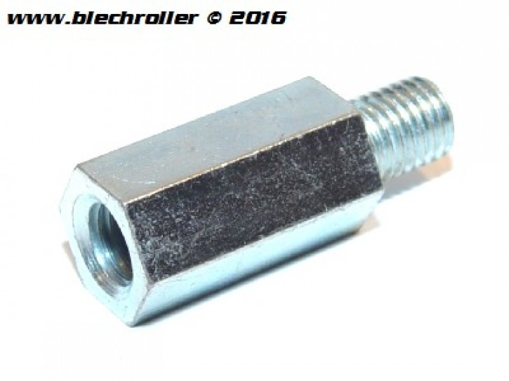 Distanzmutter M9x26mm, Sechskant, Stoßdämpfer hinten, für Vespa 125 GT/GTR/TS/150 Sprint/V/180-200 Rally