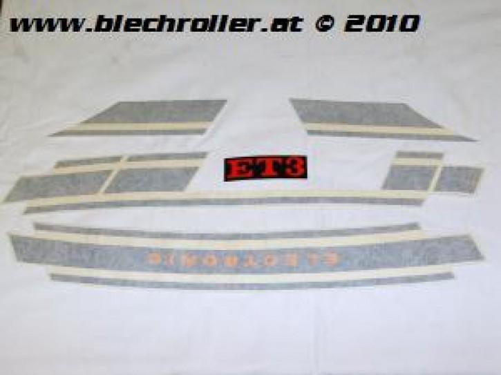 "Aufkleberset Vespa ET3 Streifen ""ELECTRONIC"