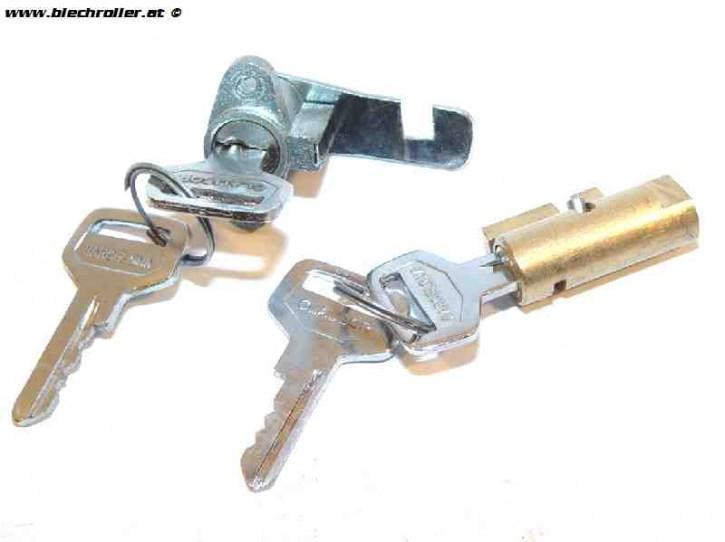 Schließzylinder Set CLAUSOR Lenkschloss/Gepäckfach, für MotoVespa 150 S/Sprint/160/GT