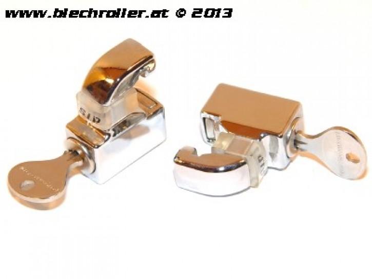 Schloss Set für Seitenhauben für Vespa 125 GT/GTR/TS/Super /150 GL/Sprint/V./Super /160 GS/180 SS/PX