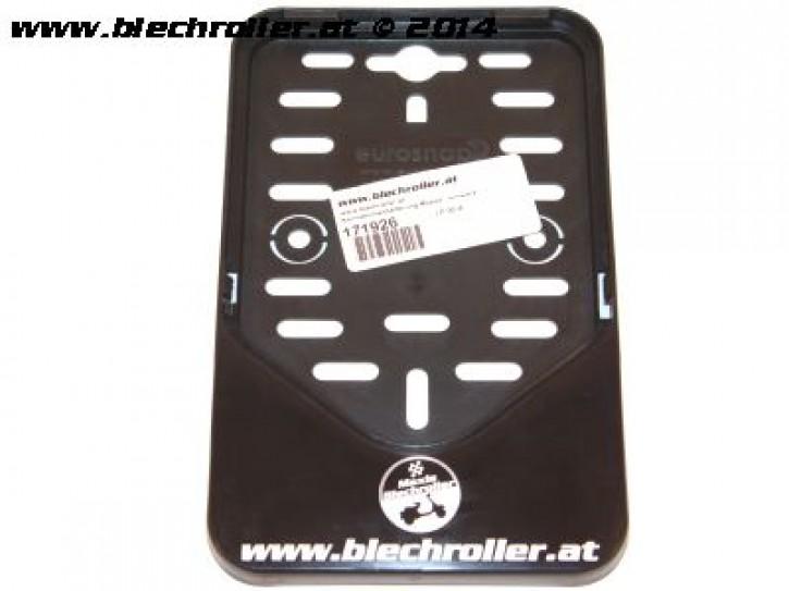 """Kennzeichenhalterung Moped """"www.blechroller.at"""" - schwarz"""