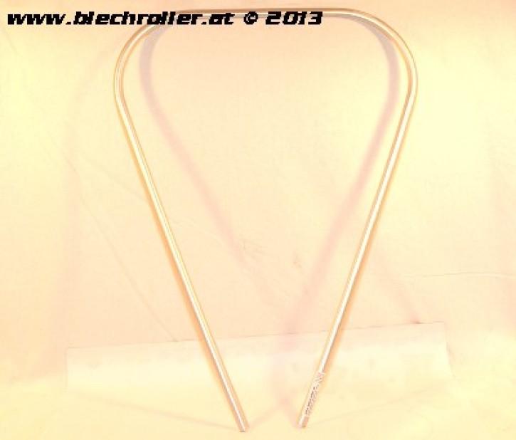 Monoschlitzrohr Beinschild Vespa PX80-200/PE /Lusso/T5 - Silber/Kunststoff