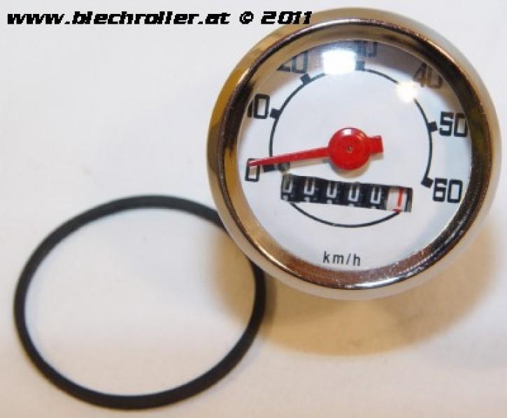 Tachometer Vespa V50/N/L/R/S/Revival/90/R/100, -60km/h