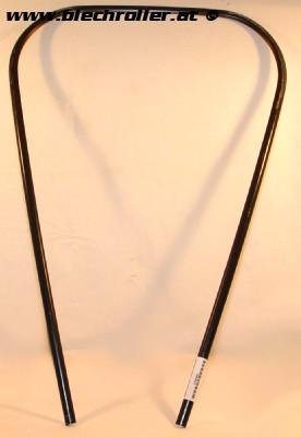 Monoschlitzrohr Beinschild Vespa PX80-200/PE /Lusso/T5 - Schwarz/Kunststoff