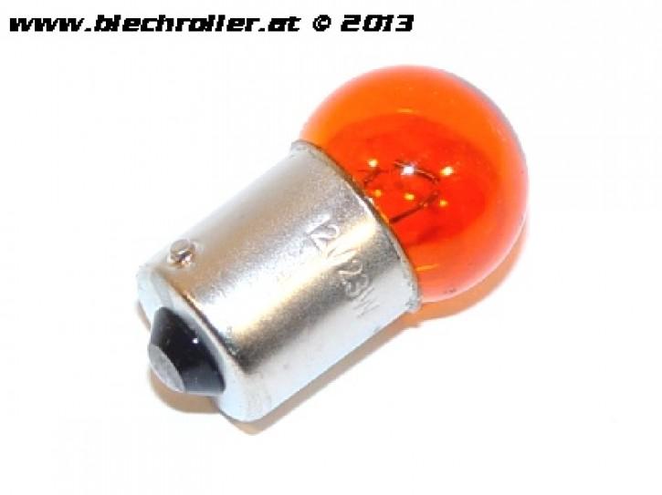 Kugelbirne 12V/10W, Sockel:BA15S - Leuchtfarbe: gelb/orange