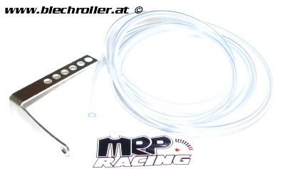 Halteblech MRP Überlaufschläuche Vergaser für Vespa 125 VNA-TS/150 VBA-Super/160 GS/180 SS/Rally/PX80-200/PE/Lusso/T5/Cosa