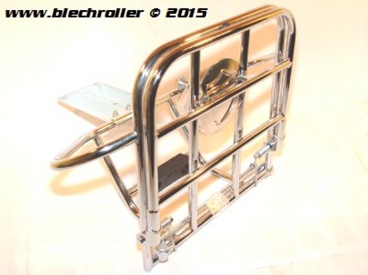 """Gepäckträger hinten, CUPPINI  mit Reserveradhalter Chrom für 8"""" geschlossene Felge"""