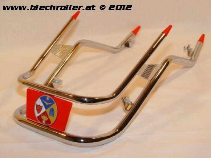 Stoßstange Kotflügel vorne CUPPINI für Vespa PK50-125/S/XL - chrom, Emblem rot