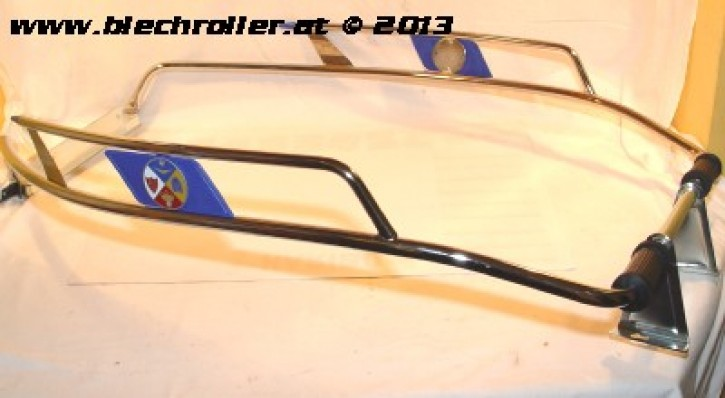 Sturzbügel Seitenhaube CUPPINI für Vespa 125 VNB4-6/ GT/GTR/TS/Super/ 150 VBB2/GL/ Sprint/V/ 160 GS 2 Serie/ 180 SS/Rally - Chrom