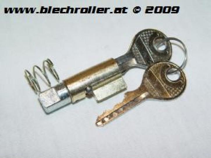 Schließzylinder Lenkschloss lang/Bund breit mit runden Metallschlüssel - V50/R/S/SR/100/PV/ET3/P80E/P80X/P150S/P150X/P200E