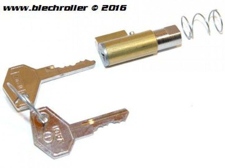 Schließzylinder ZADI Lenkschloss lang/Bund breit mit Metallschlüssel - V50/R/S/SR/100/PV/ET3/P80E/P80X/P150S/P150X/P200E