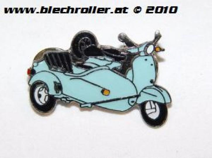 Anstecker/Pin Vespa mit Beiwagen