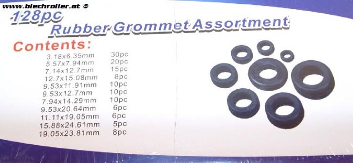 Gummistopfen-Set (Sortiment) Rahmen universal (Typ Kabeldurchführung)