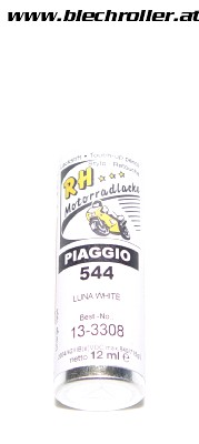 Lackstift Vespa GTS Piaggio 544 Weiss (montebianco) - 12ml