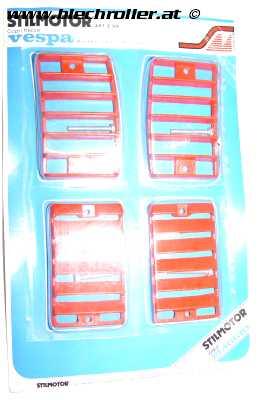 Blinkergitter rot für Vepsa PK 50-125 S - RETRO ORIGINALVERPACKT