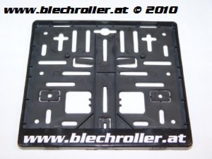 """Kennzeichenhalterung Motorrad """"www.blechroller.at"""" - schwarz"""