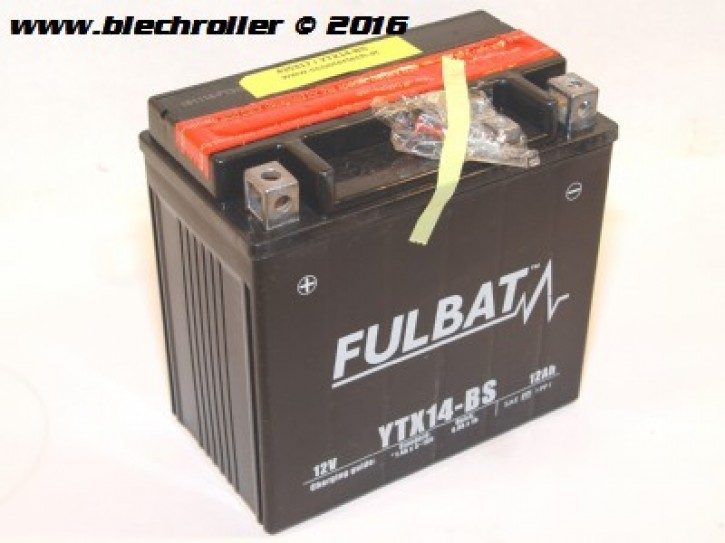 Batterie Fulbat 12V/12Ah YTX14-BS - vorgeladen