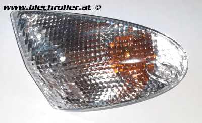 Blinker weiß links/vorne komplett für Aprilia SR 50 ab 2000, Leonardo 125 ST, 250/300