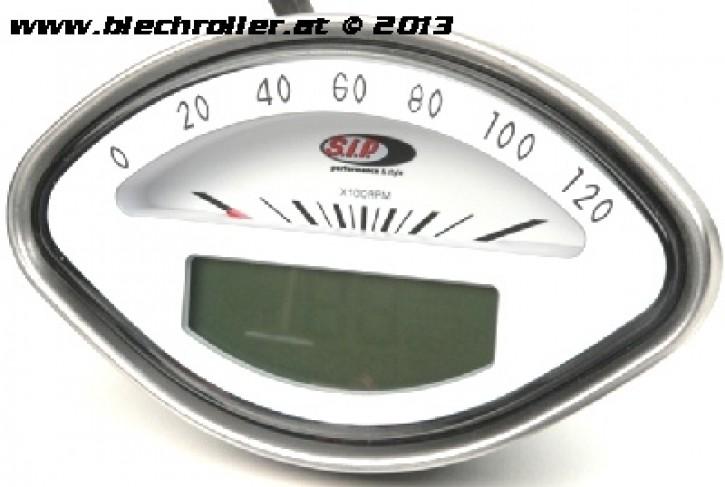 Drehzahlmesser/Tacho MFA SIP für Vespa 125 GT/150 VBA/VBB /GL/GS/Sprint /160 GS/180 SS