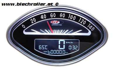 Drehzahlmesser/Tacho MFA SIP 2.0 für Vespa 125 GT/150 VBA/VBB/GL/GS/Sprint/160 GS/180 SS