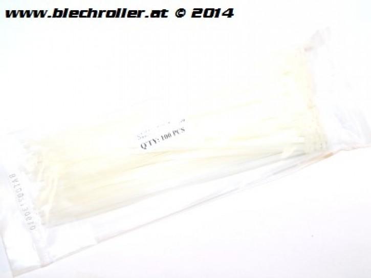 Kabelbinder 100 Stück, Länge: 200mm