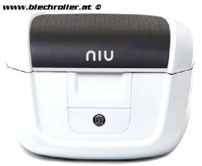 NIU N1S Topcase inkl. Gepäckträger - WEISS