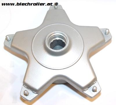 Bremstrommel LML Scheibenbremse vorne für Vespa PX MY, LML Star Deluxe/Lite 125-200 Handschaltung/Automatik - silber - komplett