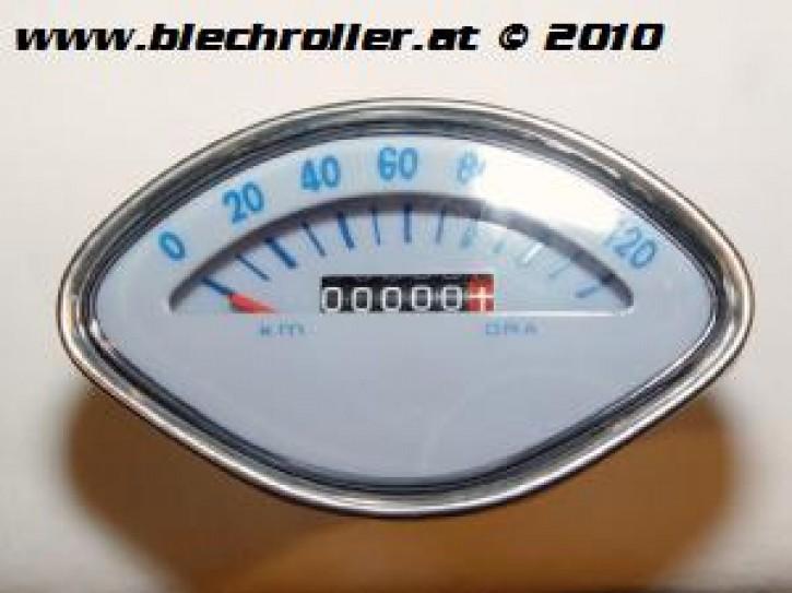 Tachometer Vespa 125 VBA/150 VBB/VGLA-B/GT/150 GL/GS/Sprint/160 GS/180 SS - Ziffernblatt: Grau