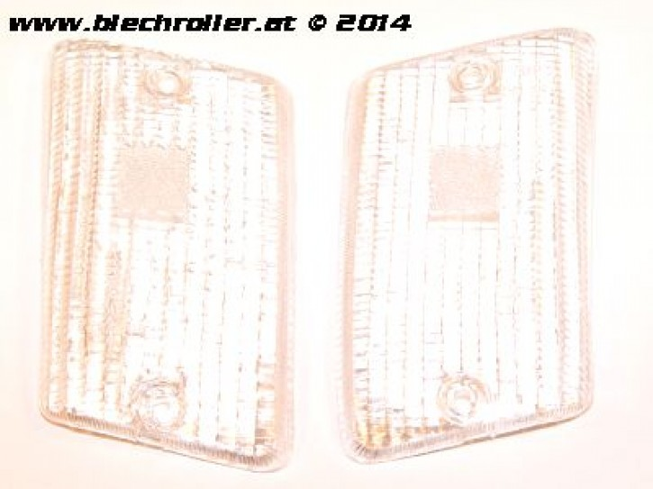 * Blinkerglas Kit BOSATTA hinten links/rechts, für Vespa PK50-125 XL /RUSH /XL2 /N/FL/HP - Weiß