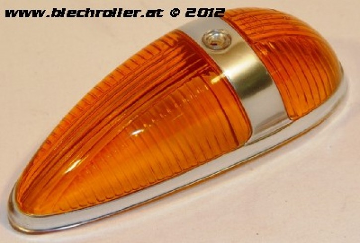 Blinkerglas Seitenhaube, für Vespa 125 VNB/150 T4/GS/160 GS(D) - gelb