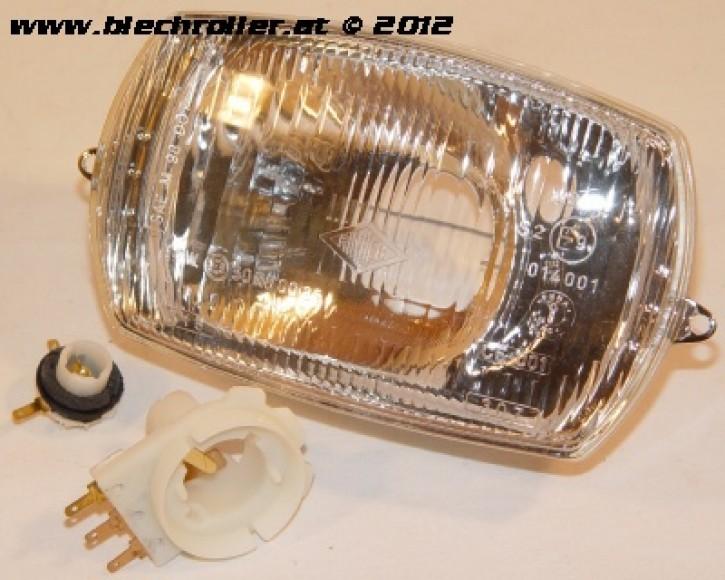 Scheinwerfer für Vespa 50 Special/Elestart, eckig