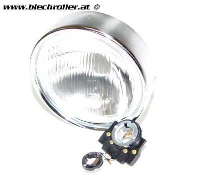 Scheinwerfer SIEM für Vespa 125 GTR/TS/150 SprintV/180-200 Rally - Rund