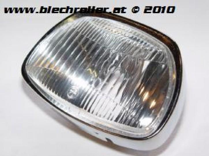 Scheinwerfer BOSATTA für Vespa 125 GT/150 GL/Sprint/180 SS - Trapezförmig mit Chromring