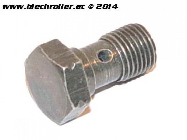 Hohlschraube PIAGGIO M10x1mm für Hytraulikleitung verschraubung - Stahl