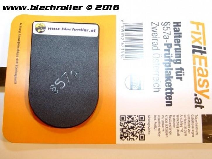 """FixitEasy §57a (Pickerl) Prüfplakettehalter """"Maxis Blechroller"""