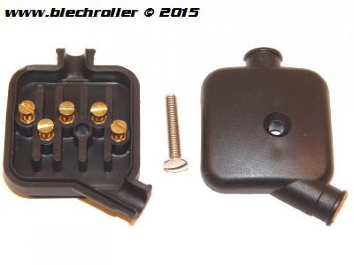 Kabelbox/Kabelkästchen Vespa V50/90 /100/PV/ ET3 - geschraubte Kontakte