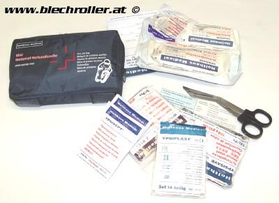 Verbandszeug/Erste Hilfe Päckchen groß - für einspurige KFZ