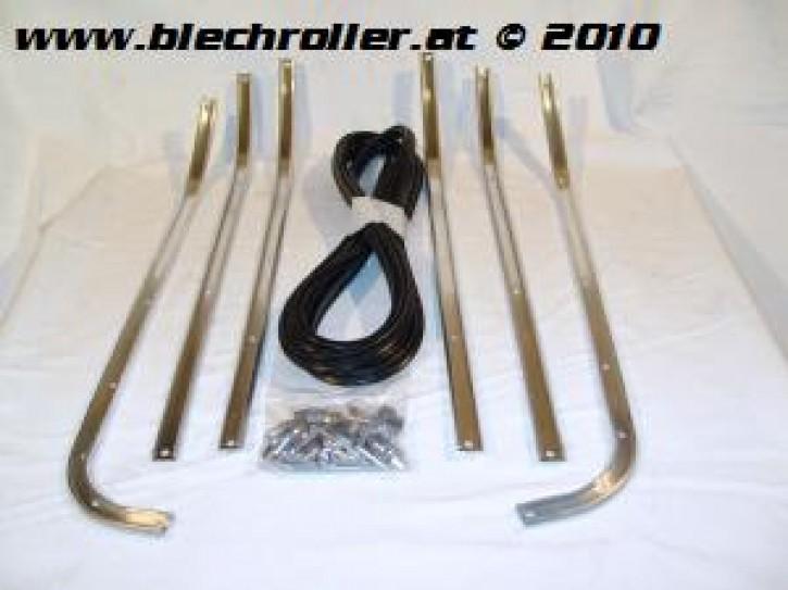 Trittleistensatz Vespa 125/150/GTR/ Sprint/Rally, mit Anpassung auch für Vespa GS160/SS180 - komplet