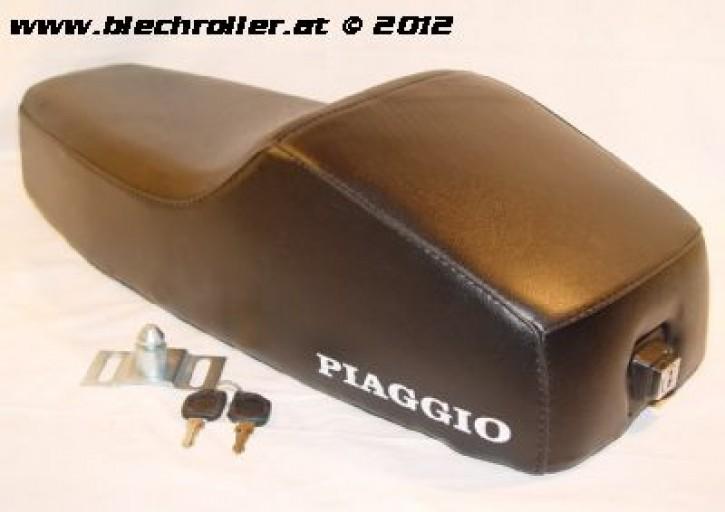 Sitzbank Mono für Vespa PK50-125S - schwarz