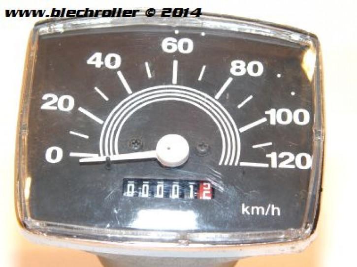 Tachometer für Vespa 50-125 Special/Spezial/Elestart, bis 120km/h