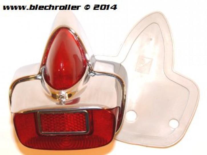 Rücklicht für Vespa 125 VNB1-5/150 VBB/GS VS5/160 GS - Metall/Chrom