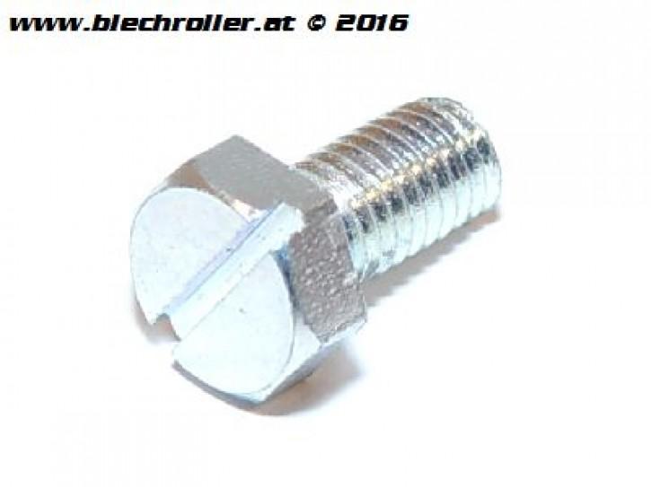 Schraube Sechskantkopf mit Schlitz M5 x 10mm