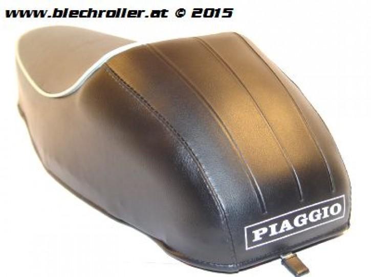 Sitzbank Mono für Vespa 50-125/PV/ET3 - mit Piaggio Schriftzug