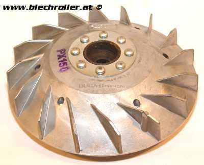 Lüfterrad -DUCATI 1800g- für Vespa 125 GTR 2/TS 2/150 Sprint V 2 /Super 2/PE/PX80-200/LML 125-150 Star/DLX/Stella/Via Toscana - ohne Elestart